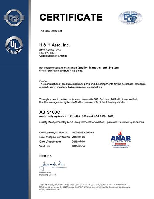 Certifications Hh Aero